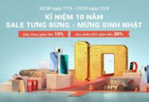 Xiaomi tổ chức khuyến mãi mừng chặng đường 10 năm ...