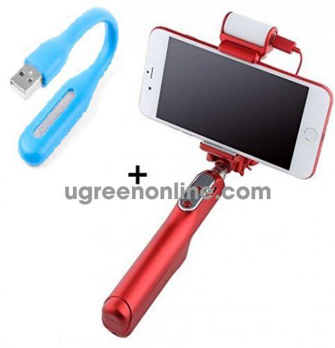 COMBO-Đèn Led Gắn Cổng USB Hiện Đại Kiểu Mới đượcsản xuất với chất lượng siêu bền, công suất tới 1,2 W-Gậy chụp hình selfie tích hợp nút bấm trên thân giúp bạn lưu lại những khoảng khắc tuyệt vời bên người thân và bạn bè.
