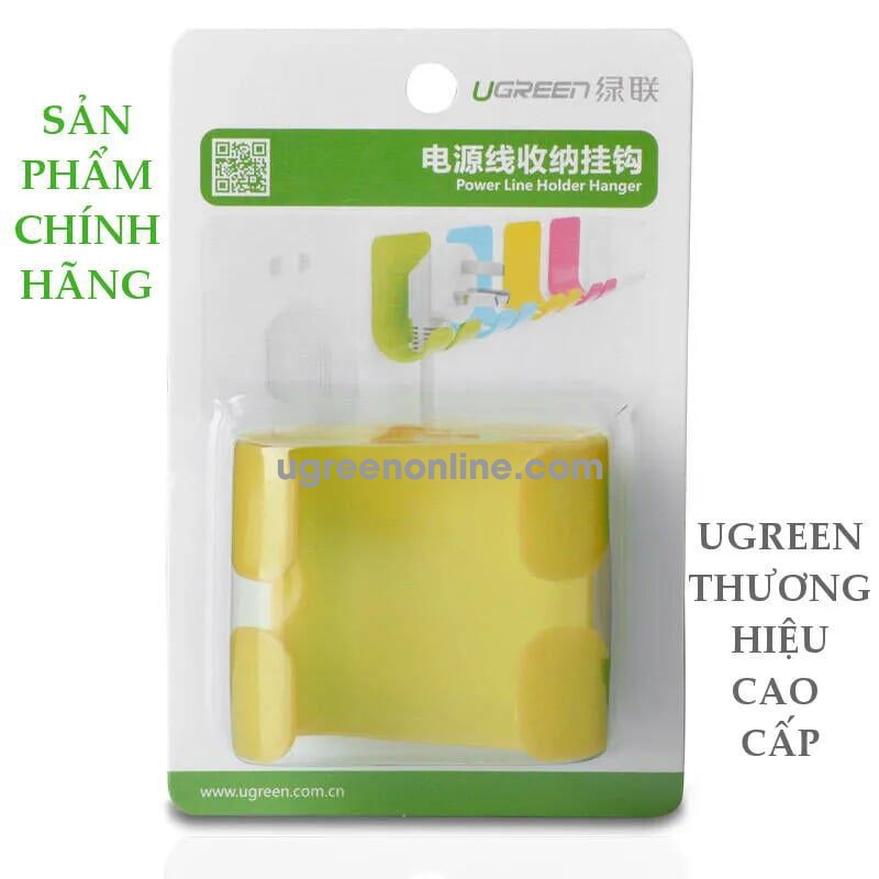 Ugreen 20365 White Móc Đa Năng Power Cord Wall Socket Cable Holder Hanger 20365