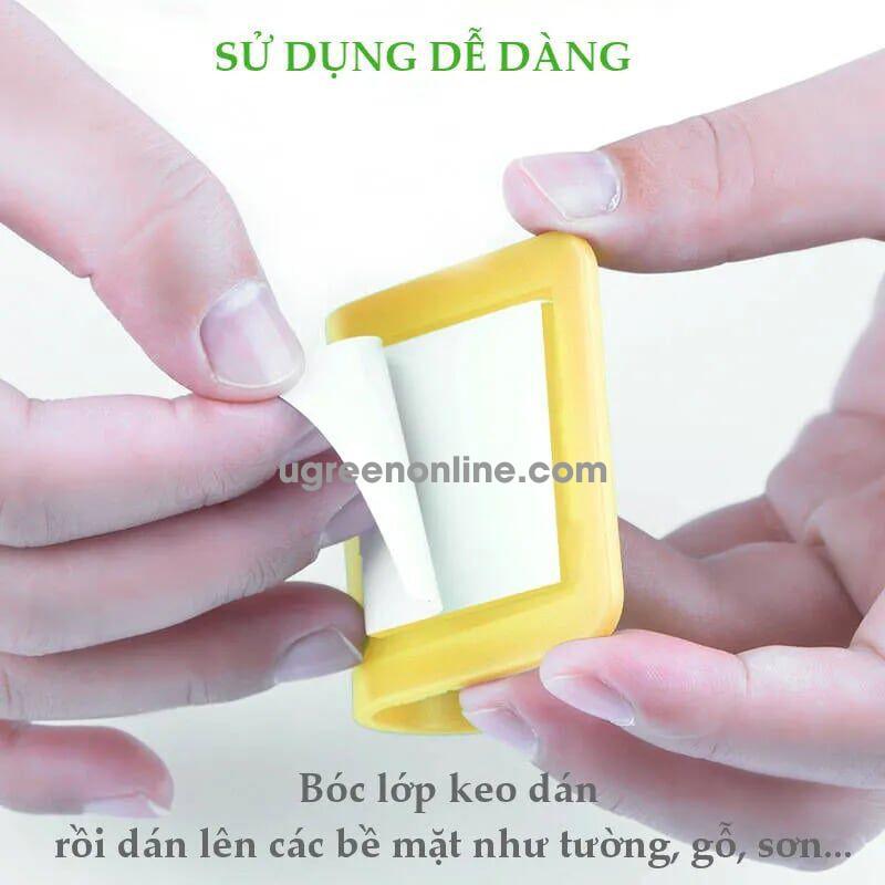 Ugreen 20366 Yellow Móc Đa Năng Power Cord Wall Socket Cable Holder Hanger 20366