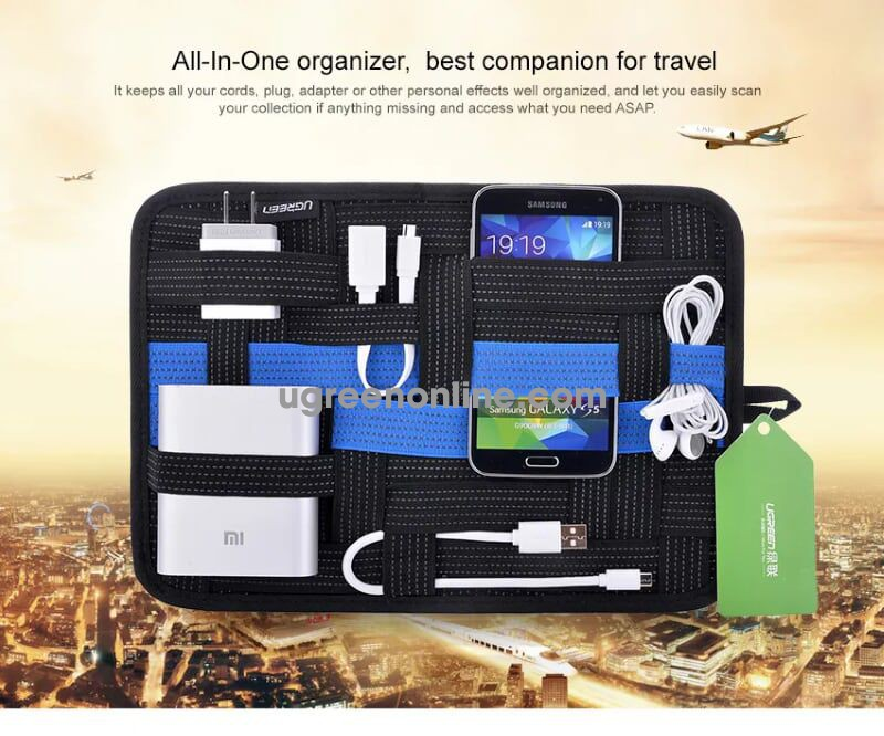 Ugreen 20324 Size M Bóp Đa Năng Device Organizer Travel Storage Bag Lp102