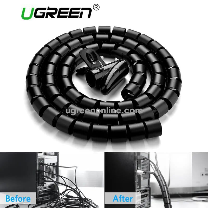 Ugreen 30819 3M 25Mm Cable Tube Wire Organizer Managemer Winder Lp121