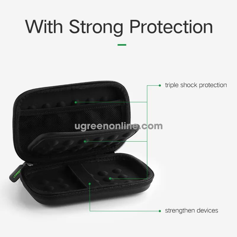Ugreen 50274 2.5 Inch Large 180X95X55Mm Hdd + Power Bank Shockproof Lp128