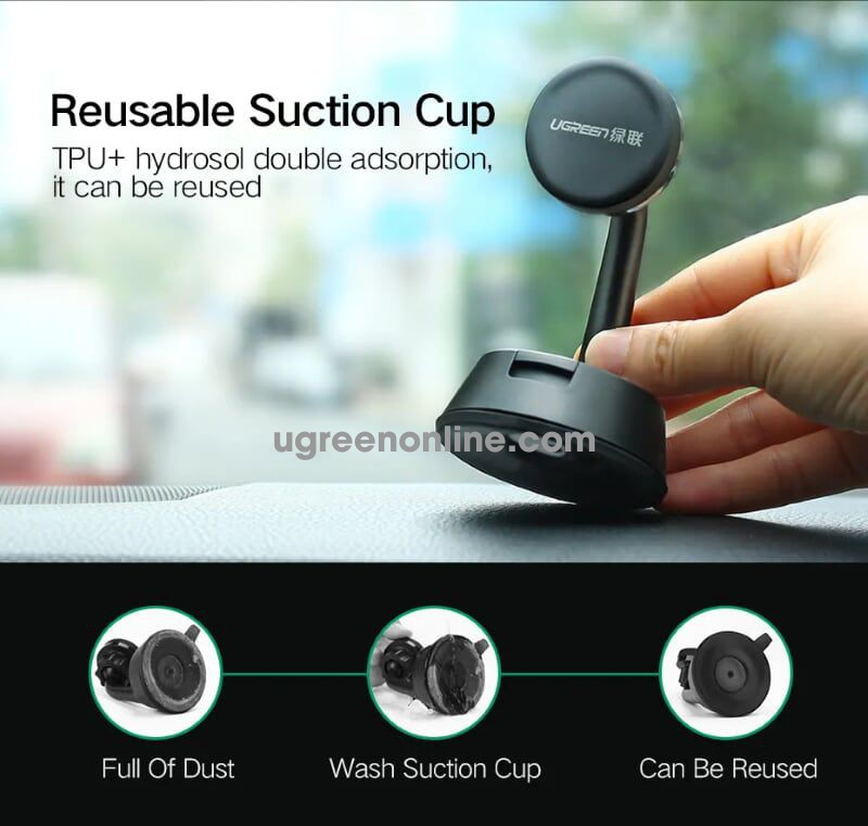 Ugreen 40898 Suction Cup Universal Car Mount For Windscreen Magnetic Lp131