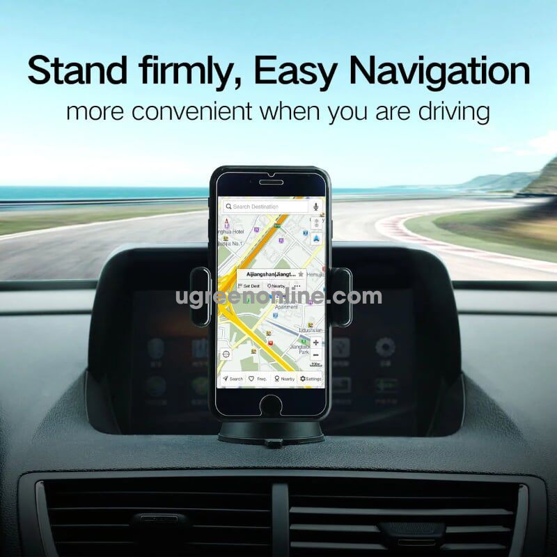 Ugreen 40899 Suction Cup Phone Holder Car Stand Dashboard Windshield Lp131