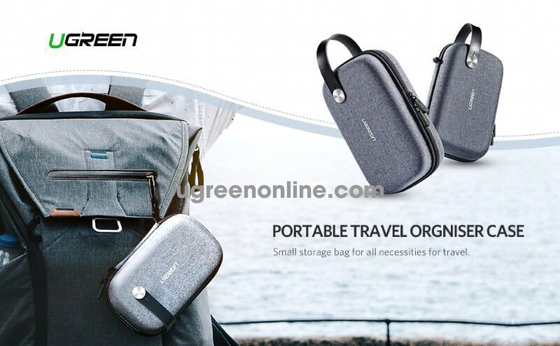 Ugreen 50903 Multifunction Digital Travel Storage Cable Charger Ect Bag Lp152