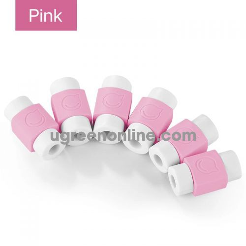 Ugreen 40956 Pink Data Cable Tail Protection Sleeve Lp127