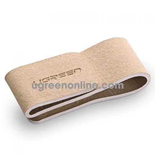 Ugreen 50371 Khaki Multi Functional Storage Leather Buckle Headphone Cable Lp138
