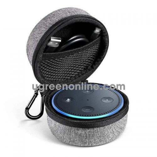 Ugreen 50905 Grey Echo Dot Speaker Case Usb Cable Ưall Charger Box Lp155