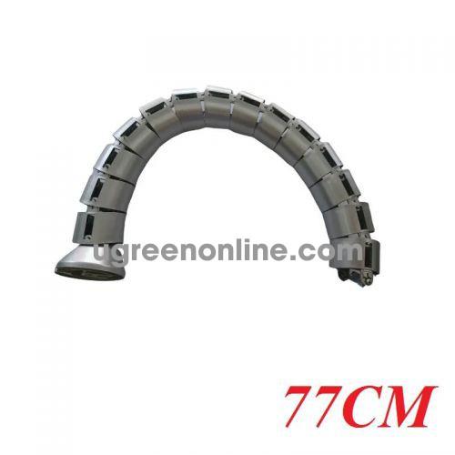Ugreen 97722 80cm gen01bla gen01sil ống gen con rắn luồn dây điện thông minh cho văn phòng silver 97722