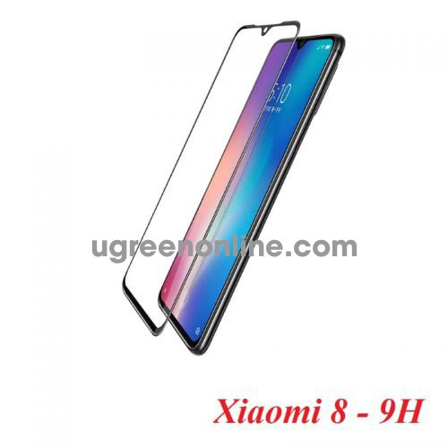 Ugreen 70366 for xiaomi 8 2-pack curve edge full coverage hd protective film with easy install kit 70366