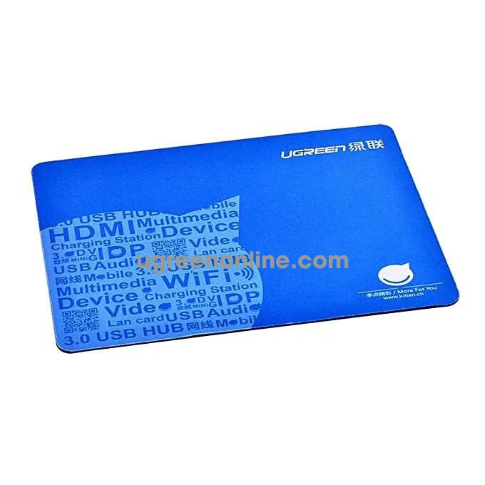 Ugreen 20312 Xanh Duơng Mouse Pad 260*210*2Mm Lp126