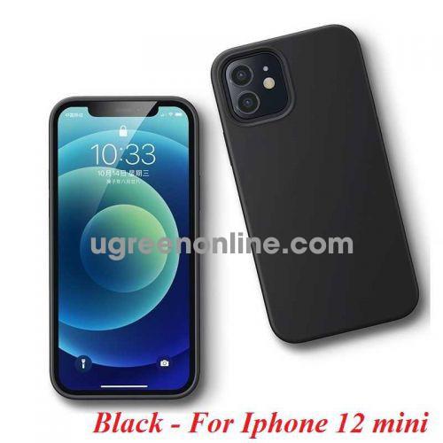 Ugreen 20452 Iphone 12 mini 5.4inch Màu Đen Ốp Lưng điện thoại Silicone LP417 10020452
