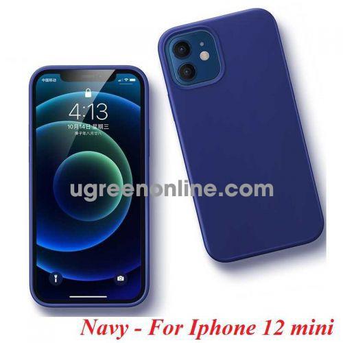 Ugreen 20453 Iphone 12 mini 5.4inch Màu Xanh Navy Ốp Lưng điện thoại Silicone LP417 10020453