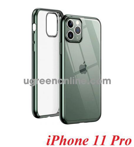 Ugreen 80468 iPhone 11 Pro ốp lưng trong suốt viền xanh chống va đập LP268 10080468