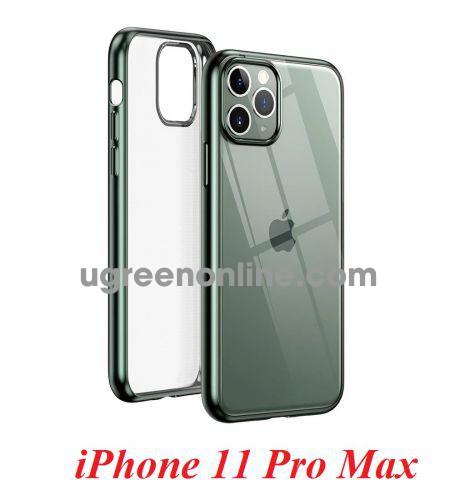 Ugreen 80471 iPhone 11 Pro Max ốp lưng trong suốt viền xanh chống va đập LP268 10080471