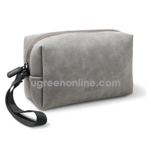 Ugreen 80520 23x13.6x7.7cm Túi đựng phụ kiện điện tử có dây buộc màu xám LP285 10080520