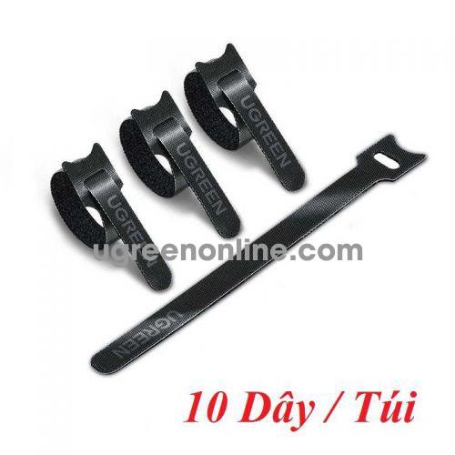 Ugreen 86210 10 sợi 18cm màu đen Dây dán Velcro tiện dụng chất liệu plastic 1 túi có 10 chiếc 20245P10 LP401 10086210