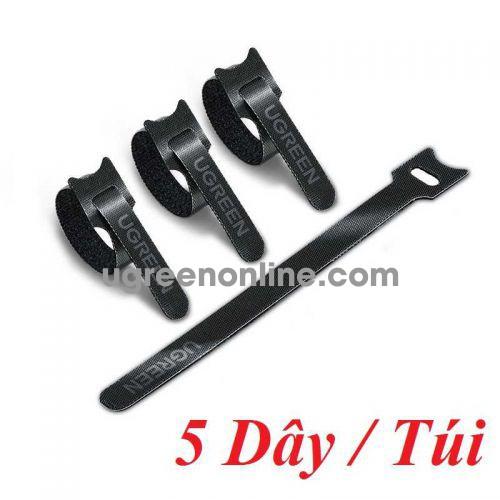 Ugreen 86419 5 sợi 18cm màu đen Dây dán Velcro tiện dụng chất liệu plastic 1 túi có 5 chiếc 20245P5 LP401 10086419