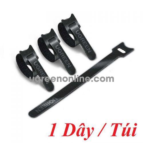 Ugreen 88933 1 sợi 18cm màu đen Dây dán Velcro tiện dụng chất liệu plastic 1 túi có 1 chiếc 20245P1 LP401 10088933