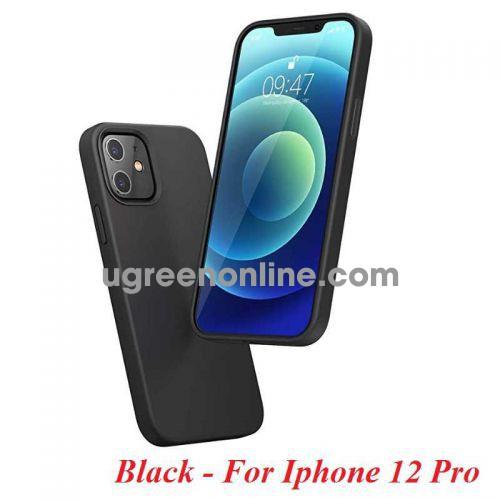 Ugreen 20454 Iphone 12 Pro 6.1inch Màu Đen Ốp Lưng điện thoại Silicone LP418 10020454
