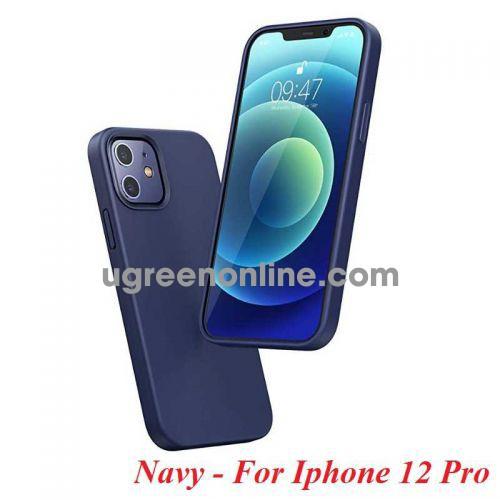Ugreen 20455 Iphone 12 Pro 6.1inch Màu Xanh Navy Ốp Lưng điện thoại Silicone LP418 10020455