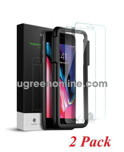 Ugreen 60372 iPhone 7 - 8 màu trắng 2 miếng dán kính cường lực bảo vệ chống trầy xướt 60372 10060372