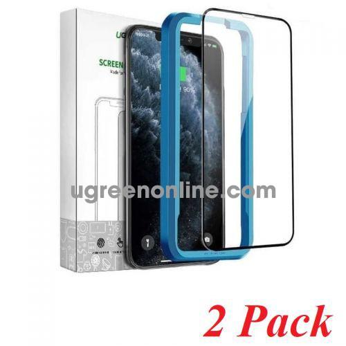 Ugreen 70986 Iphone 11 6.1inch 2 miếng dán kính cường lực bảo vệ 3D SP141 10070986