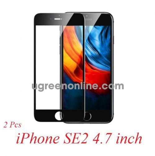 Ugreen 80620 iPhone SE2 2 miếng dán bảo vệ màu đen bo cạnh kèm Kit dụng cụ dán SP152 10080620