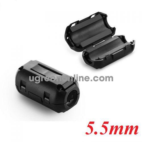 Ugreen 20305 cục chống nhiễu điện từ 5.5mm Lọc dòng Core ZJ301 10020305