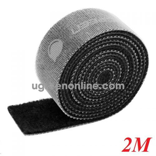 Ugreen 40354 2M Black Velcro Cable Organizer Black LP124