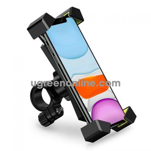 Ugreen 60989 Black Bike Phone Holder Bicycle Motorcycle Phone Mount Stainless Steel Handlebar Mount 360 Rotation LP181