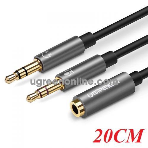 Ugreen 20899 3.5Mm Female To 2 Male Headset Splitter Đen 20Cm Av140 10020899