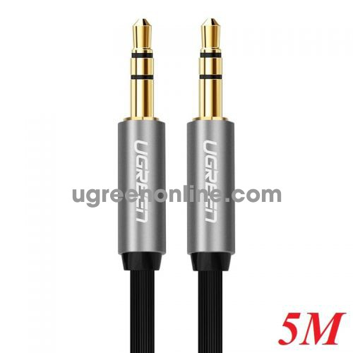 Ugreen 10731 5M Cáp Audio đầu 3.5mm cable Đen 10731 10010731