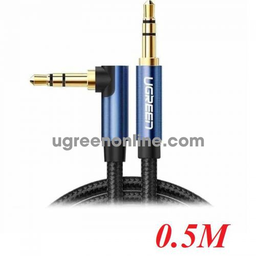 ugreen 60178 0.5M 3.5mm Male to 3.5mm Male Cable Gold Plated Metal Case with Braid AV112 10060178