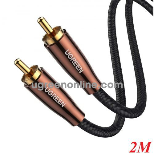 Ugreen 10190 2m RCA Coaxial Cable Copper Case Braid AV155 10010190