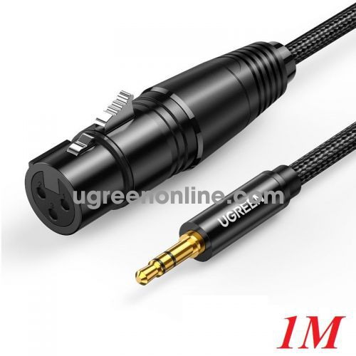 Ugreen 20763 1M 3.5mm to XLR Cable Male to XLR Female Microphone Cable AV182 10020763