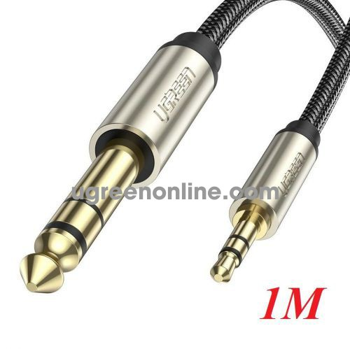 Ugreen 10625 1M Gray 3.5mm TRS to 6.35mm TS Audio Cable TRS Stereo Audio Cable with Zinc Alloy Housing and Nylon Braid AV127 10010625