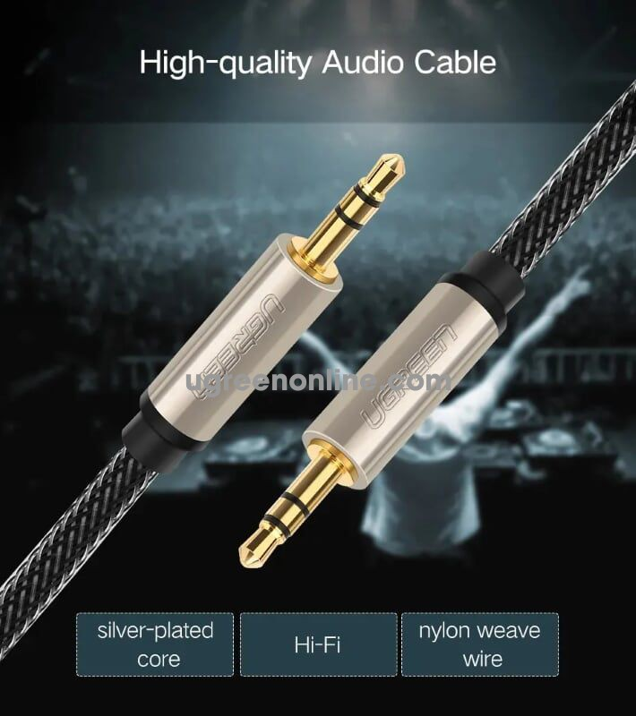 Ugreen 10606 5M Professional aux audio cable Xám AV125