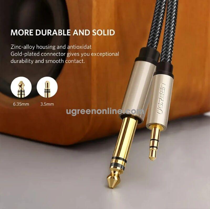 Ugreen 10631 8M 3.5mm male to 6.5mm male cable Xám AV127
