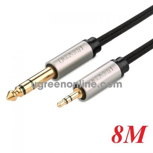 Ugreen 10631 8M 3.5mm male to 6.5mm male cable Xám AV127 10010631