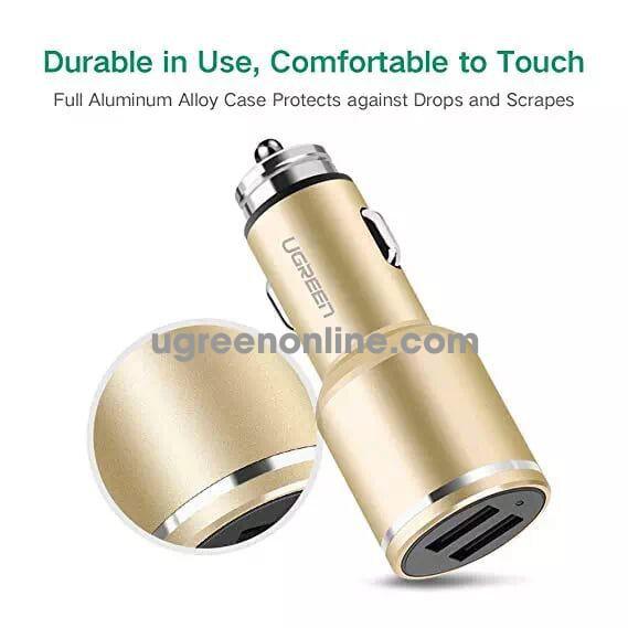 Ugreen 30515 Gold Dual 4.8A USB Car Charger Sạc Xe Hơi Ô Tô CD130 - TEL 0902302321