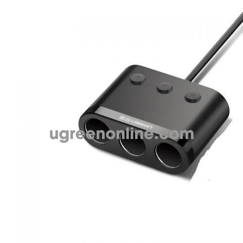 Ugreen 40738 120W 3X Expansion Header Car Charger Mở Rộng Socket Cd167 10040738