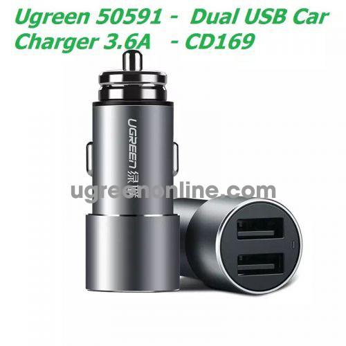 Ugreen 50591 3.6A Dual Usb Car Charger Sạc Nhanh Xe Hơi Ô Tô 2 Cổng Cd169