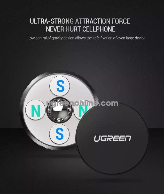 Ugreen 60216 Magnetic Air Vent Car Mount Phone Holder Giá Đỡ Từ Tính Màu Xám Lp117