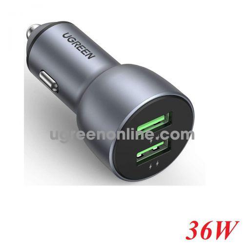 Ugreen 10144 36w QC3.0 Dual USB Fast Car Charger CD213 10010144