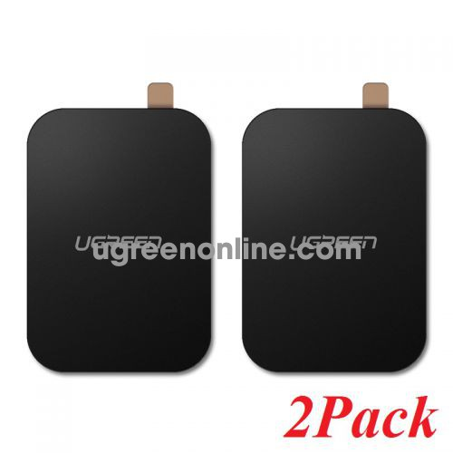 Ugreen 50869 2 Pack Black Rectangular Metal Plate for Magnetic Phone Stand LP123 10050869