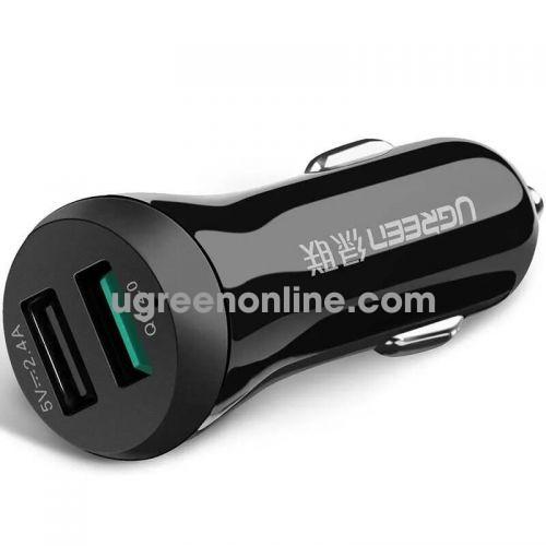 Ugreen 20392 2 Ports dual usb car charger màu Đen ABS CD114 10020392