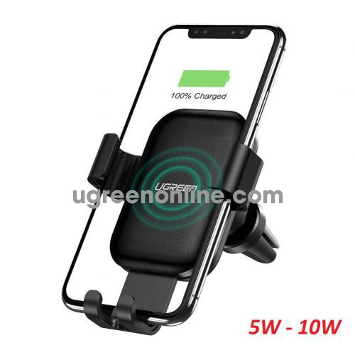 Ugreen 60982 5W 7W 10W Wireless Air Vent Car 2 in 1 Fast Charger and Phone Holder CD208 10060982