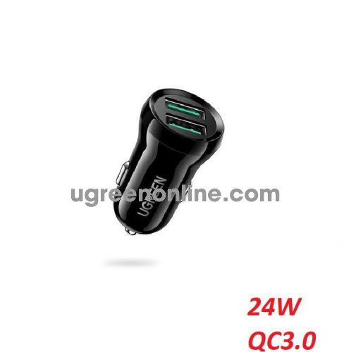 Ugreen 70192 24W Dual USB Fast 2 Ports QC 3.0 Car Charger ED037 10070192